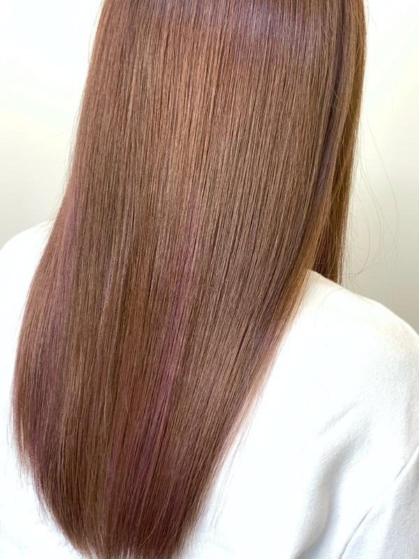 髪質改善キヲクトリートメントピンクニュアンスサムネイル