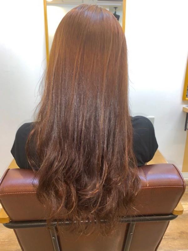 傷まない縮毛矯正!毛先にデジパーでパーマかけたスタイル。サムネイル